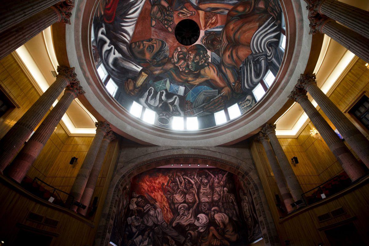 Murales de José Clemente Orozco en el Paraninfo de la UdeG