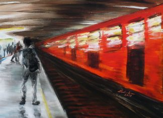 """El metro"", Eréndira Díaz Barriga"