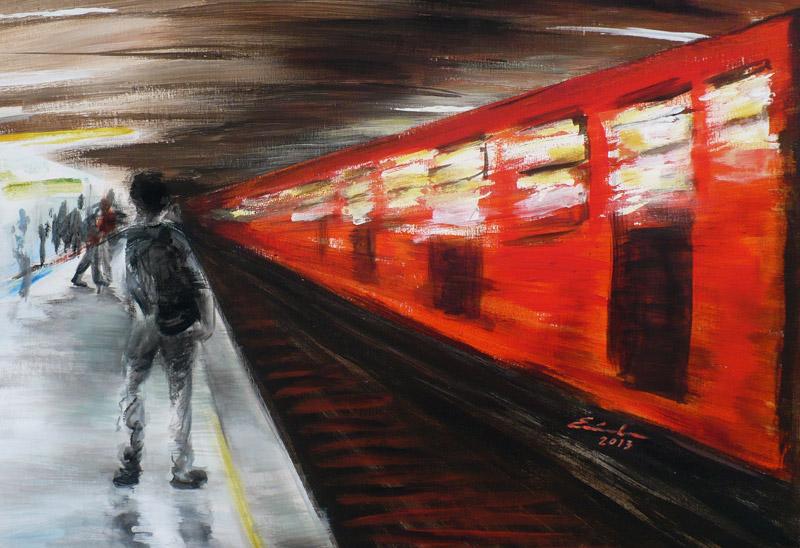 """""""El metro"""", Eréndira Díaz Esponda"""