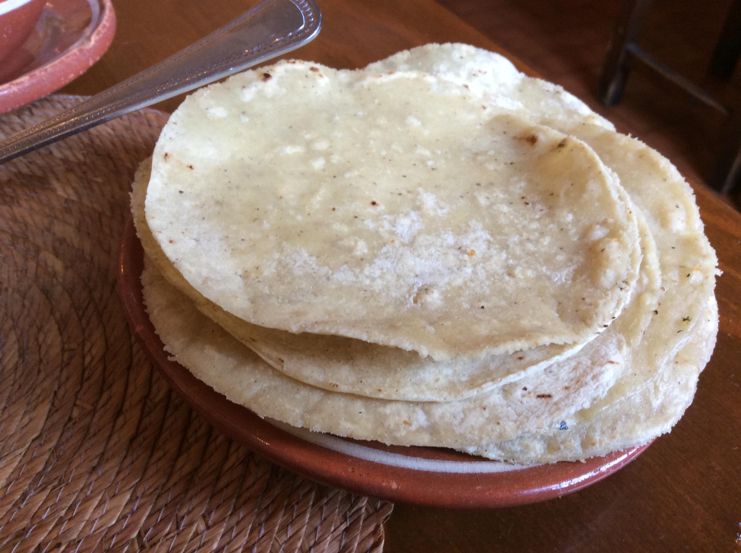 Tortillas para la carne en su jugo