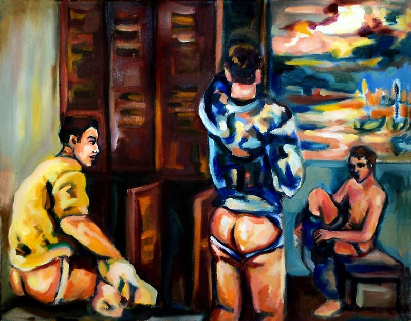 """""""Locker room joy"""", Sebastian Moreno"""