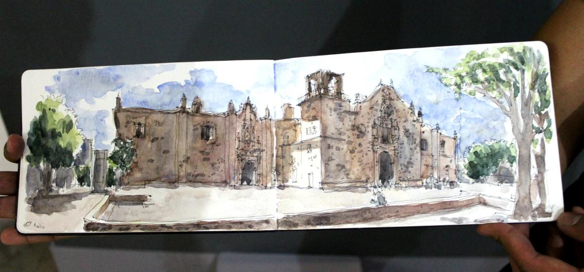 """""""Analco"""", Germán Bautista de Urban Scketchers Guadalajara"""