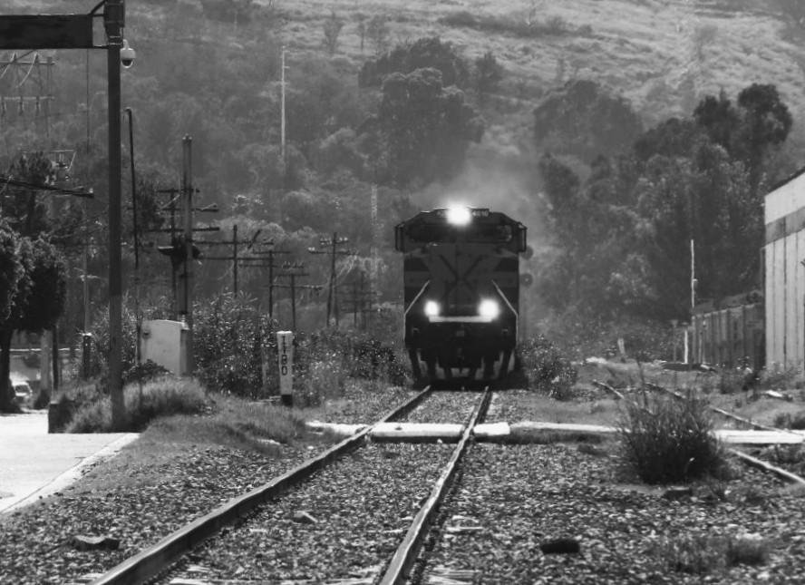 El tren cruzando Ocotlán
