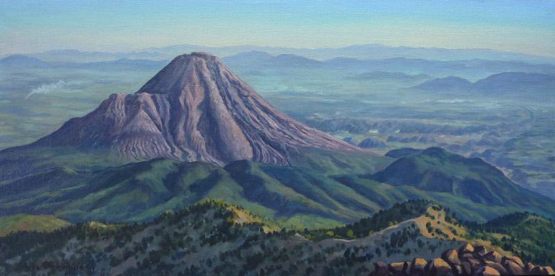 """""""Volcán de Fuego de Colima desde el Nevado de Colima"""", Jorge Obregón"""