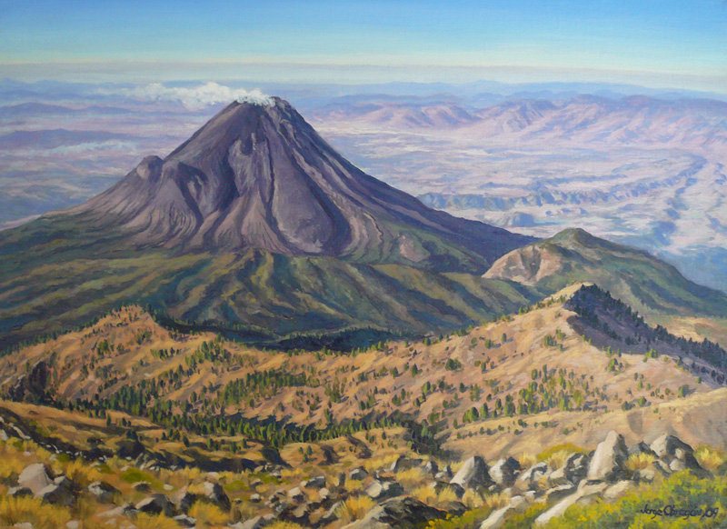 """Volcán de Fuego de Colima"", Jorge Obregón"
