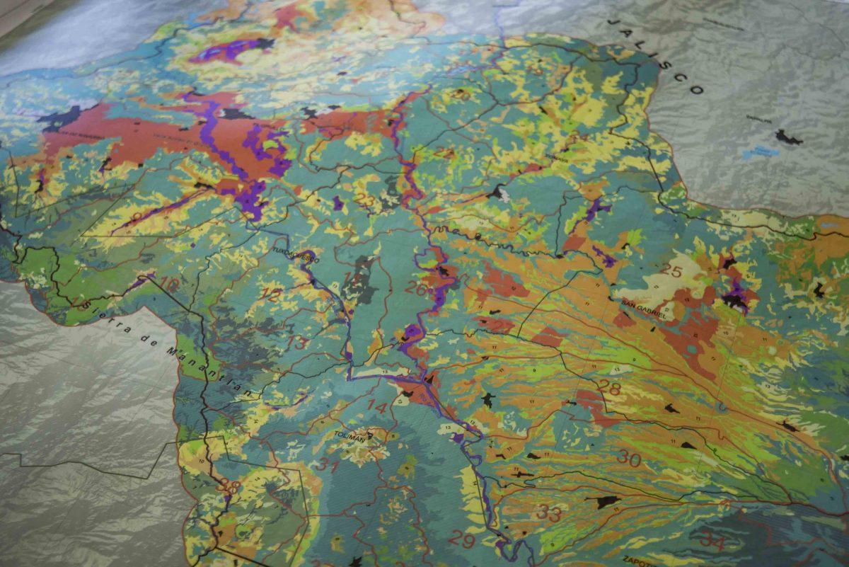 Mapa de proyecto de conservación ecológica en sur de Jalisco, por investigadores del CUCSur de la UdeG