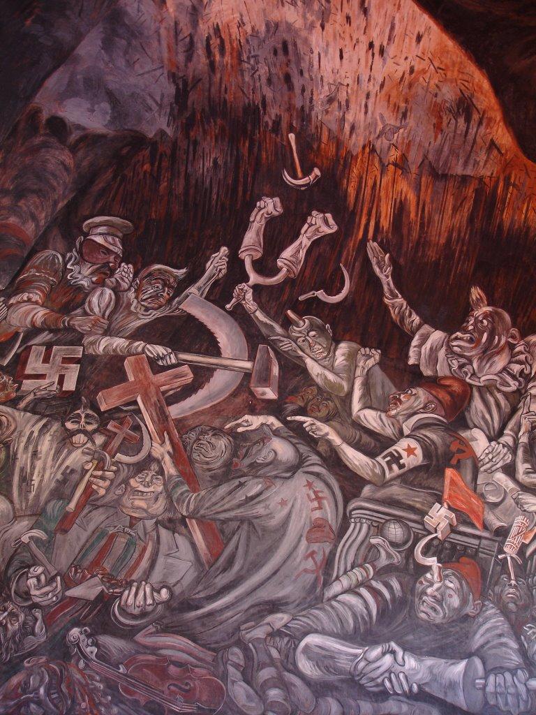 """""""Payasos de la guerra"""", José Clemente Orozco (1944)"""