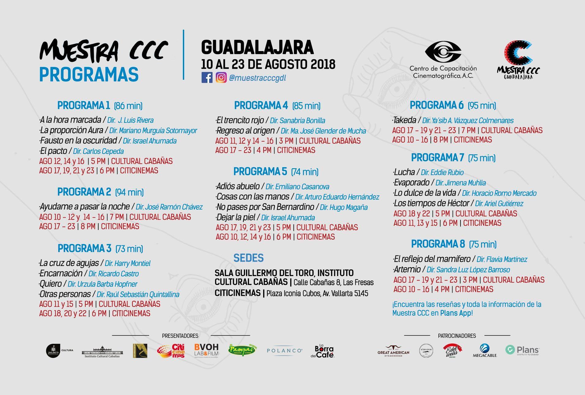 Programas de la Muestra CCC 2018