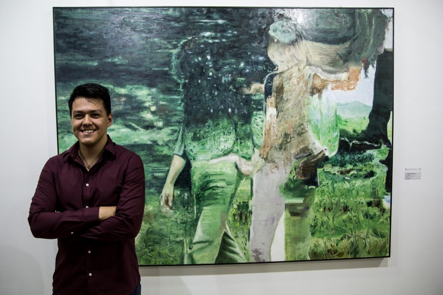 """Figuras sobre paisaje"", de Juan Manuel Salas Valdivia. Bienal de Pintura José Atanasio Monroy"