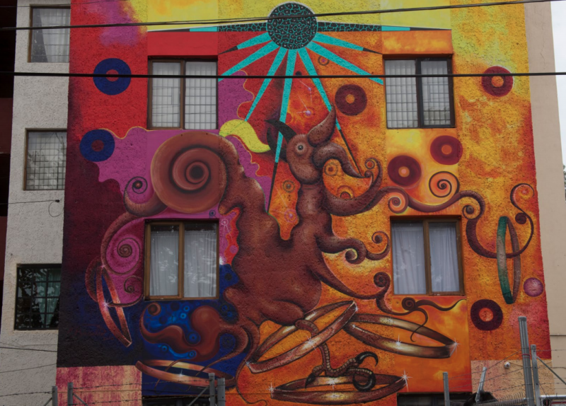 """Grafiti: """"Nuevas miradas sobre el arte urbano en Guadalajara"""". Foto: José Hernández Claire. Obra de Ernesto Basulto"""