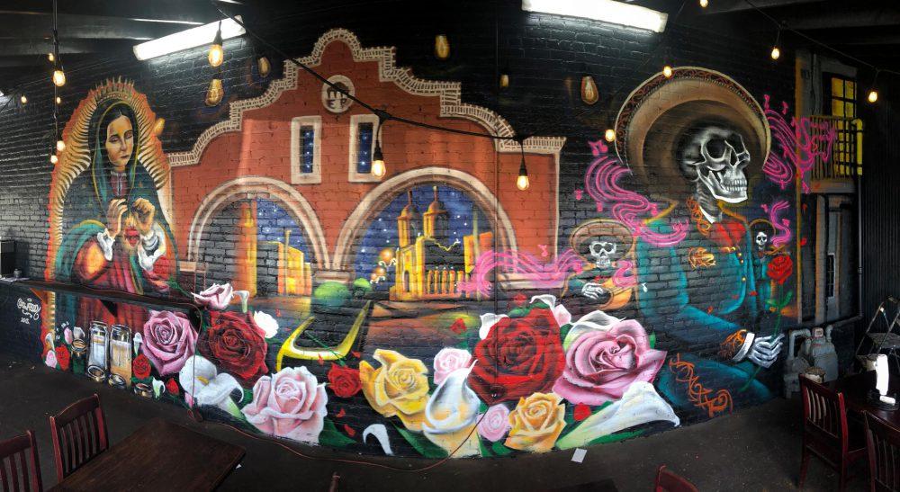 Mural de Freddy Diaz en Restaurante El Parián