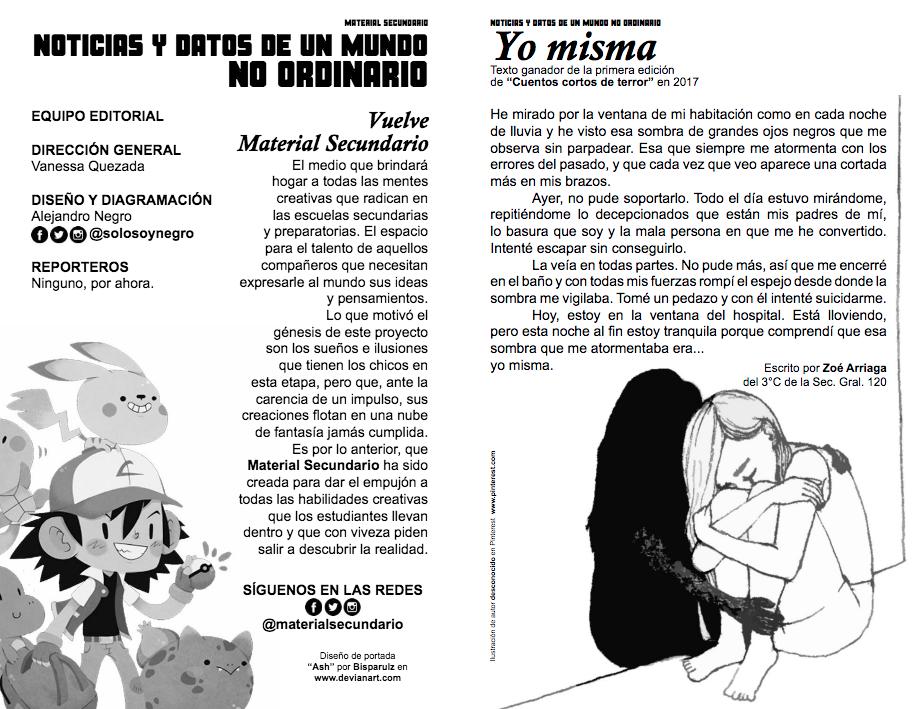 """Jóvenes editan revista """"Material Secundario"""""""