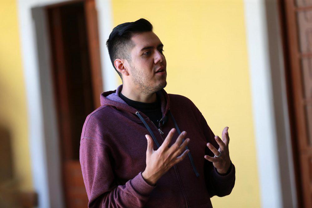 """Cristopher Santiago, director de """"Idiotas contemplando la nieve"""""""