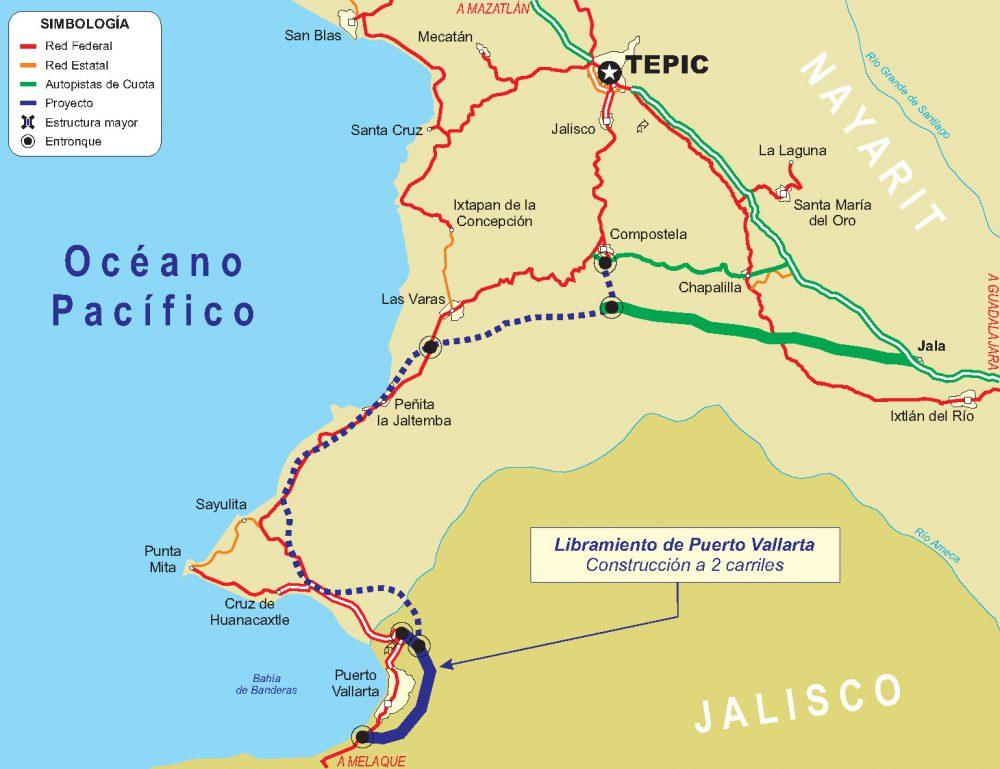 Libremiento proyectado en Puerto Vallarta
