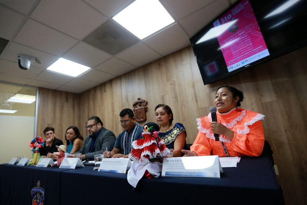 Rueda de prensa del %º Festival Intercultural Indígena