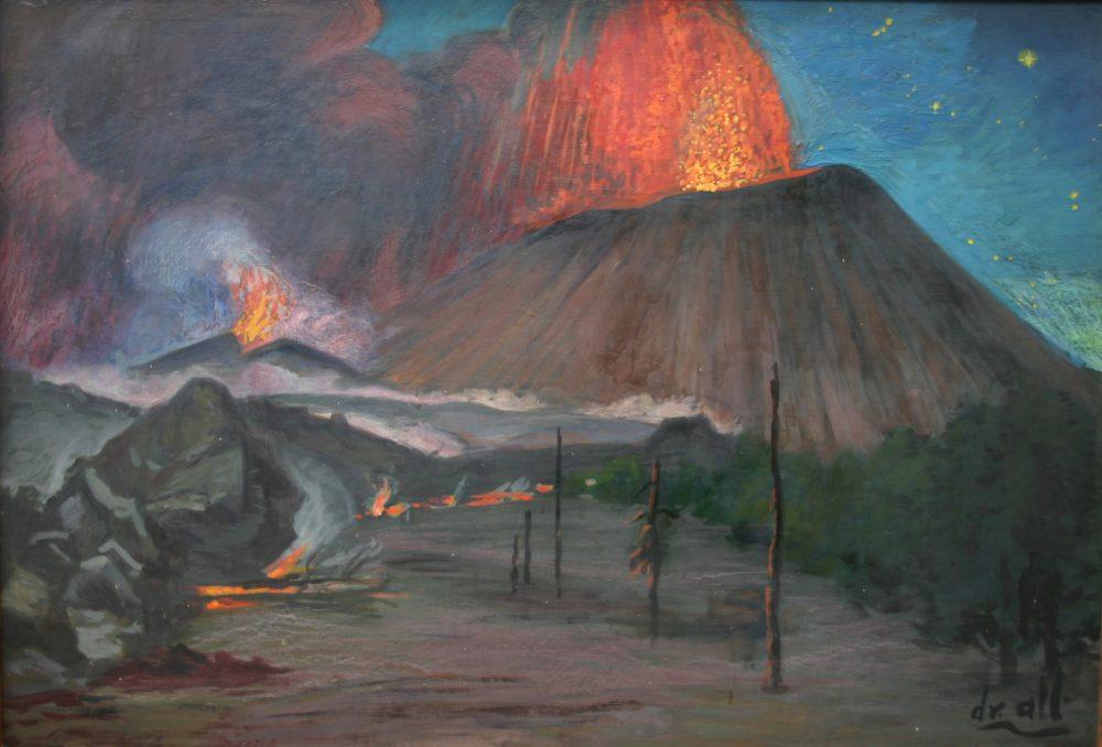 """Erupción en apogeo"", Dr. Atl. 1960"