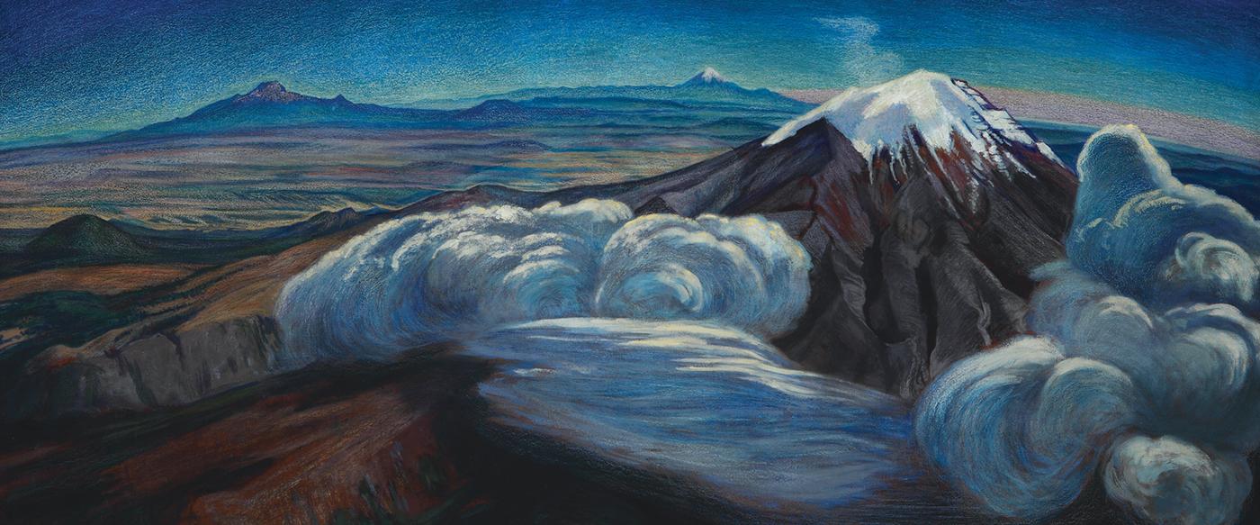 """""""Los volcanes"""", Dr Atl. 1950"""