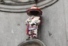 Manneken Pis con traje wixárika