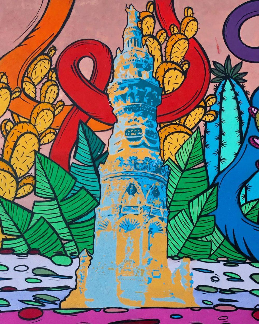 """""""Así sabe Jamay"""", Mural Gastronómico de Jamay, por Colectivo Galva"""