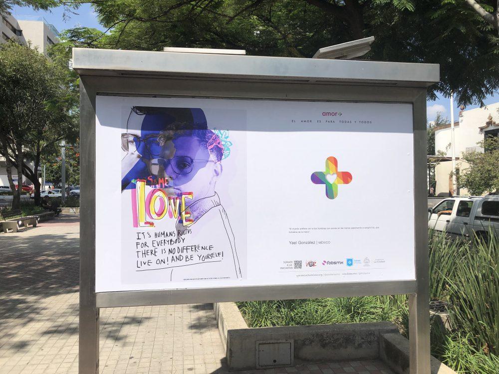 """Cartel de la muestra """"Amor+"""""""