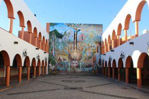 Mural de Mayahuel, en la Presidencia de Tequila, Jalisco