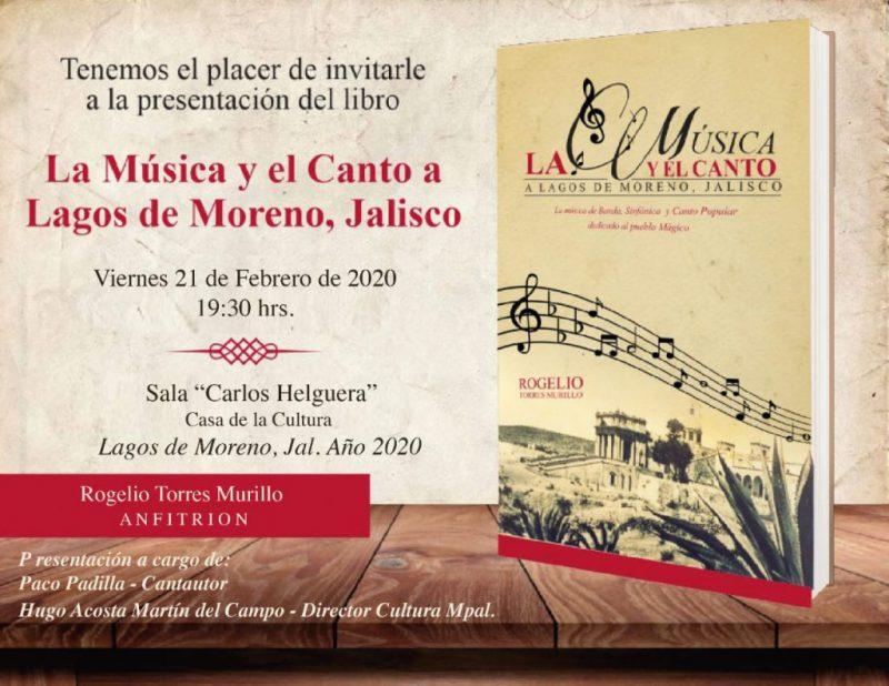 """libro """"La música y el canto a Lagos de Moreno"""""""