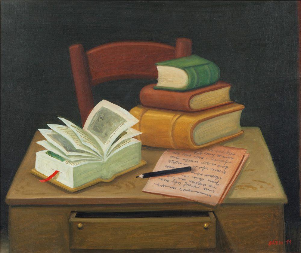 """""""Naturaleza muerta con libros"""", de Fernando Botero"""