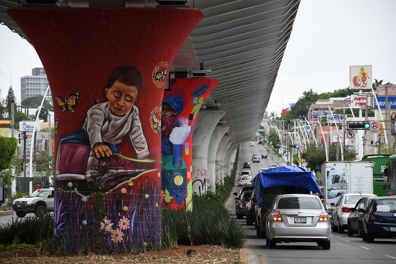 Murales en la Línea 3 del Tren Ligero