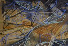 """""""Espacio resultante de arquitecturas que se encuentran I"""", de Emilio Said Charruf, obra ganadora en la V Bienal de Pintura José Atanasio Monroy"""