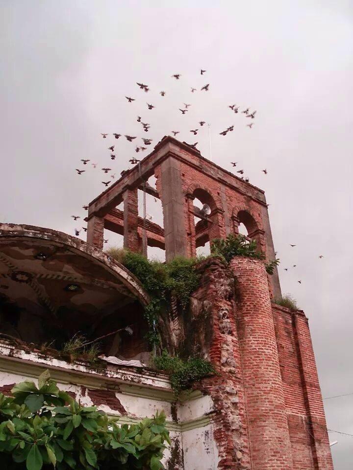 Templo en ruinas de La Huerta