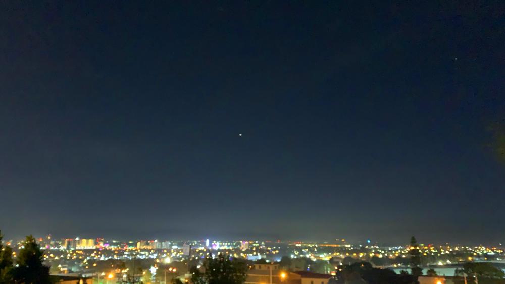 Conjunción planetaria de Saturno y Júpiter, desde La Cima de Zapopan