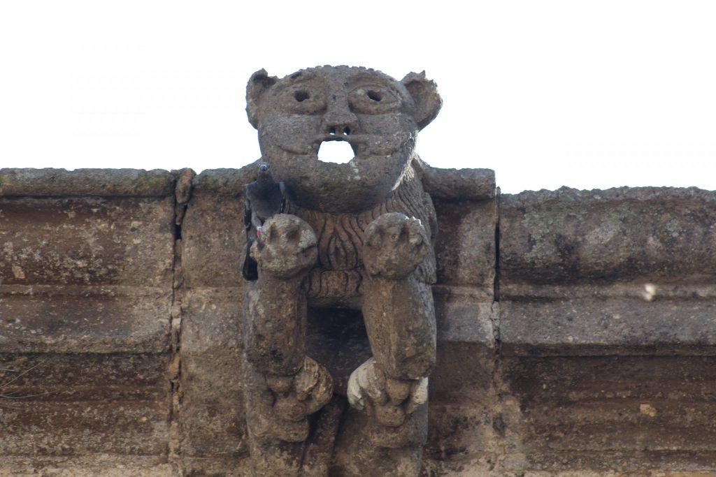 Nahual gárgola, del Templo de Santiago Apostol en Tonalá. Fotografía: Iván Serrano
