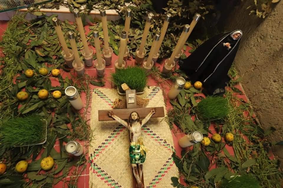 Tendido de Cristos. Fotografía: Gobierno de San Martín Hidalgo